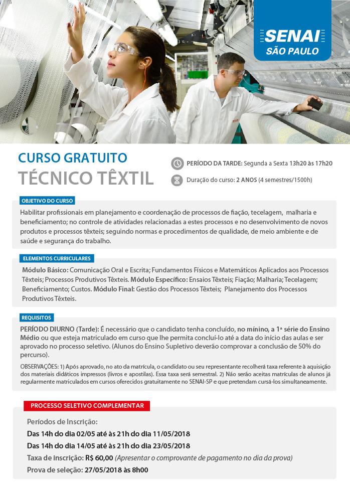 Tecnico Textil - PS Complementar