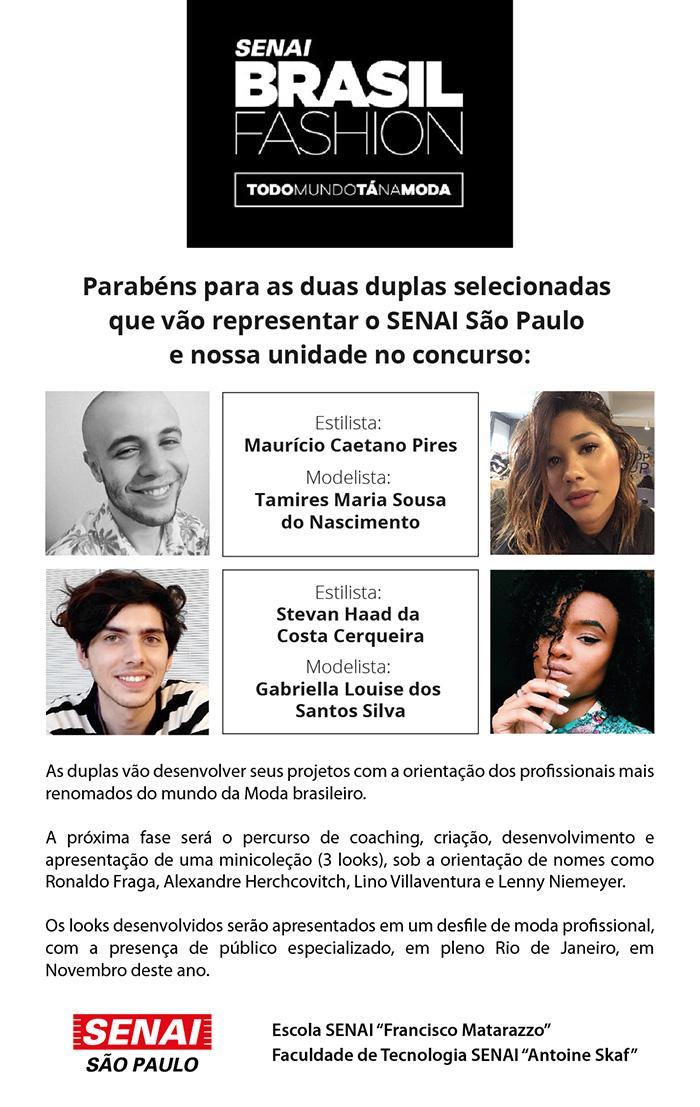 SENAI Brasil Fashion2018